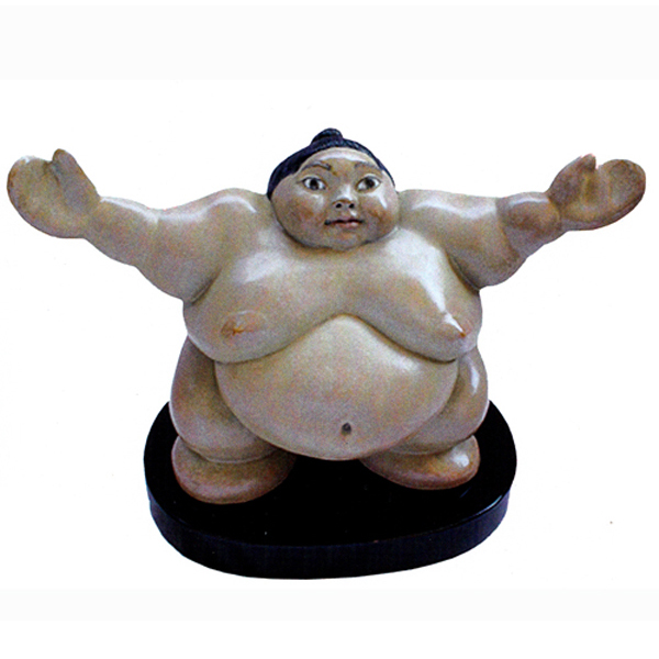 Sculpture sumo bronze - Bring it On - Irina Daylene