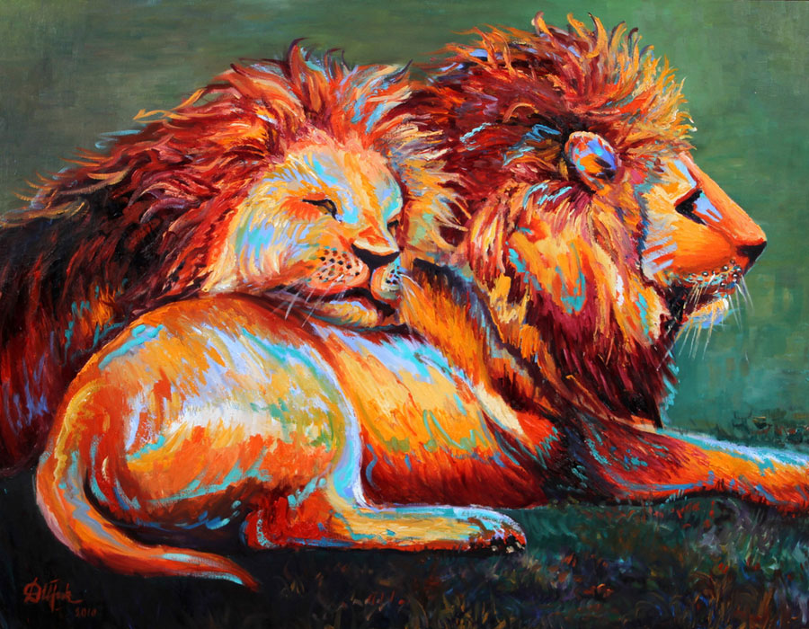 Oil painting, artwork - Two Brothers - Irina Daylene