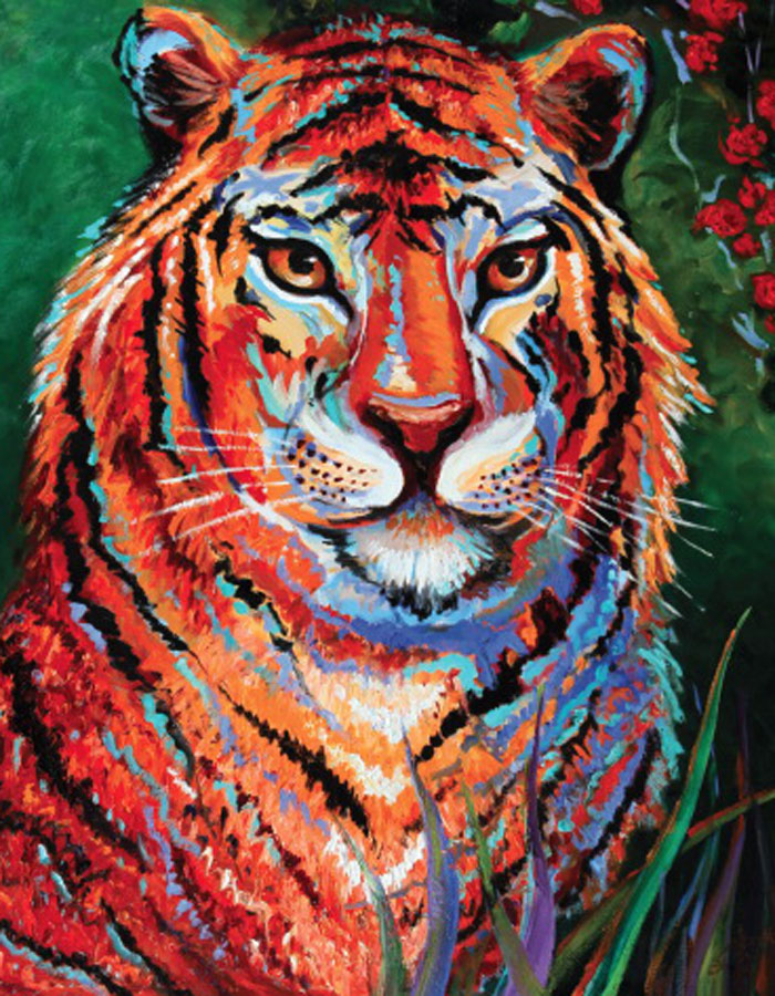 Oil painting, artwork - The Magnificent Male - Irina Daylene